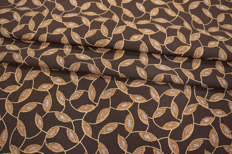 Креп шелковый коричневый PRT-G2 03021928