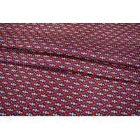 ОТРЕЗ 2.6 М Шелк красный ромбы PRT-H3 03021930-1