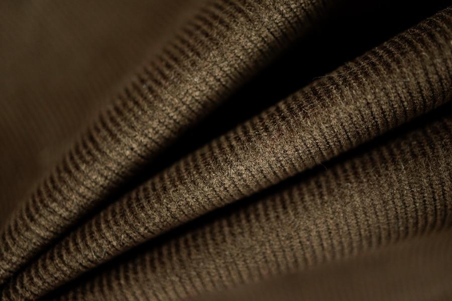 Вельвет хлопковый коричневый PRT-B6 10011901