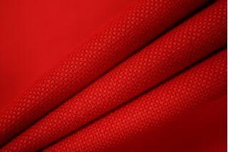 Костюмная шерстяная рогожка красная PRT1-G3 09011902