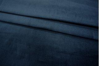 Велюр хлопковый темно-синий PRT 086-E2 09011907