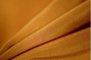 Крепдешин шелковый золотистая охра PRT1-D5 09011913