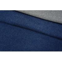 ОТРЕЗ 0,55 М Пальтовая шерсть двухслойная сине-серая PRT-F5 10061902-1