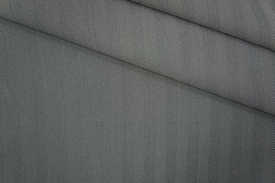 ОТРЕЗ 1,5 М Плательная вискоза в елочку серая PRT-(34)- 24061934-1