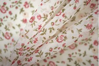 Шифон шелковый цветы PRT-G3 06061903