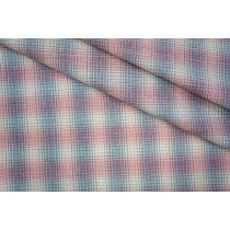 ОТРЕЗ 1,4 М Лен тонкий костюмно-плательный в клетку PRТ-Е6 06061920-2