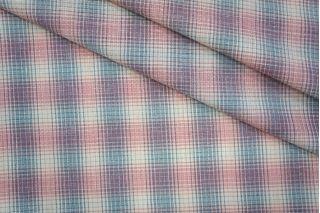 Лен тонкий костюмно-плательный в клетку PRT-G6 06061920