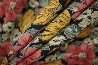 Креп вискозный цветочки на черном PRT-Н3 07061907