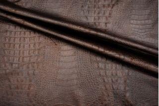 Кожзам фактурный крокодил коричневый PRT-I3 05071909