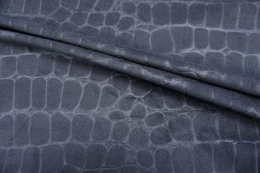 ОТРЕЗ 1,5 М Замша фактурная серая PRT-(21)- 05071914-1