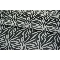 ОТРЕЗ 2 М Жаккард хлопковый черно-белый PRT-N2 14011905-1