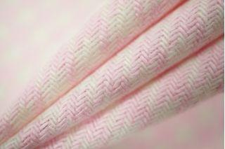 Костюмная шерсть гусиная лапка бело-розовая PRT1-P2 14011906