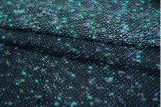Шерсть-букле костюмная фиолетово-бирюзовая PRT-P2 14011907