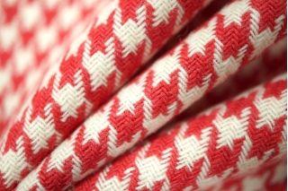 Костюмная шерсть гусиная лапка красная PRT1-O3 14011911