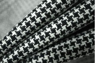 Костюмная шерсть пепита черно-белая PRT1-P2 14011915