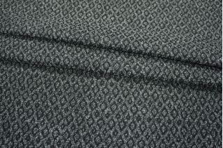 Жаккард черно-белый ромбы PRT-K4 15011904
