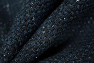 Рогожка черно-синяя с люрексом PRT-N4 15011908