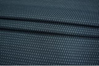 Костюмная шерсть ромбы голубые PRT-I6 15011917