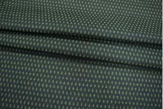 ОТРЕЗ 2.2 М Костюмная шерсть ромбы зеленые PRT 083-K4 15011936-2
