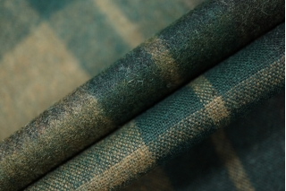 Костюмная шерсть в клетку зеленая PRT-O4 15011943