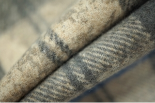 Костюмная шерсть в клетку бежевая PRT-P4 15011946