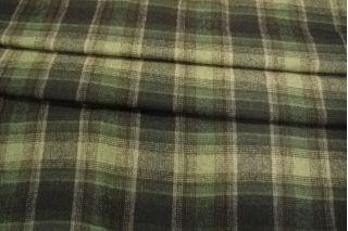 Костюмная шерсть в клетку зелено-коричневая PRT-Q4 15011954
