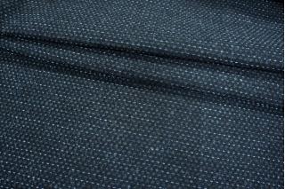 Шерсть пальтовая черно-синяя PRT-N5 15011957
