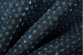 Шерсть пальтовая черно-синяя PRT-P4 15011957