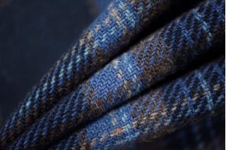 Костюмная шерсть в клетку фиолетовая PRT-Q4 15011964