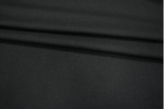 Костюмная шерстяная диагональ черная PRT-P5 15011926