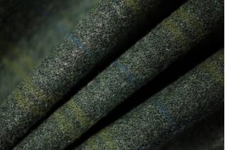 Шерсть костюмно-плательная в клетку зеленая PRT-N5 15011934