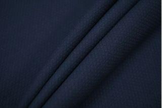 Хлопок фактурный с шерстью темно-синий PRT-H4 11071907
