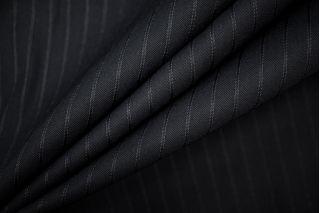 Костюмная шерсть черная в полоску PRT-130 H4 11071910