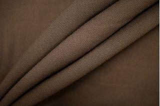 Плательный хлопок с шерстью коричневый PRT- 021 T2 11071913