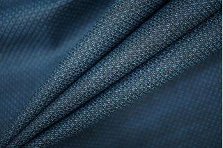 Костюмная шерсть черно-бирюзовая PRT-J5 11071919