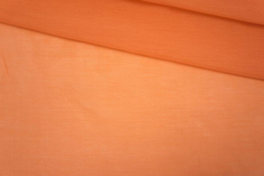 Батист хлопок с шелком морковный PRT-АЗ 10061948
