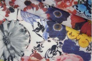 Батист хлопок с шелком цветы PRT-G3 11061909