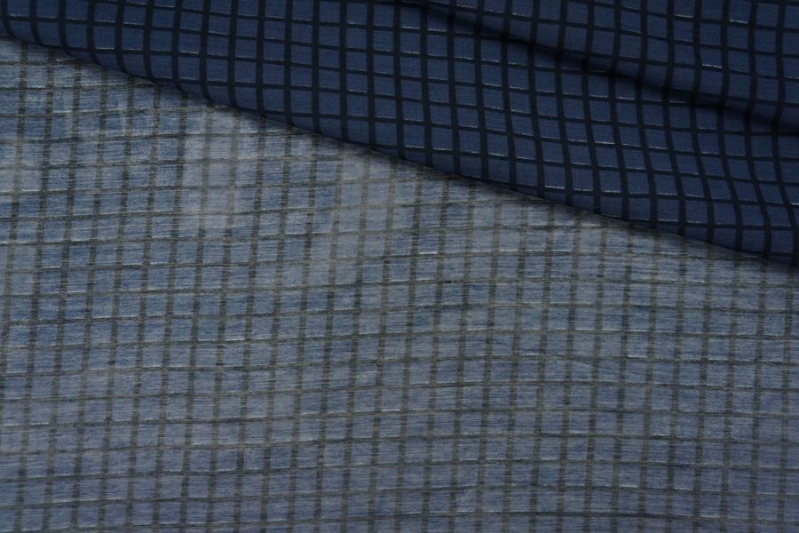 Батист хлопок с шелком клетка PRT-G2 11061910