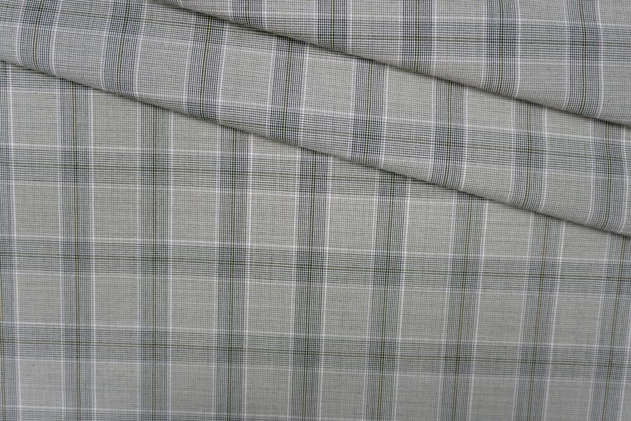 Тонкая костюмная шерсть в клетку PRT- E4 11071927