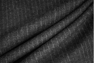 Твид шерстяной темно-серый в полоску PRT-Е4 11071933