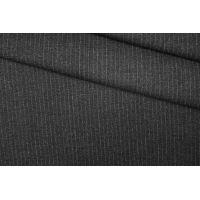 Твид шерстяной темно-серый в полоску PRT-Е5 11071933
