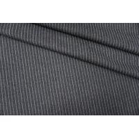 Твид шерстяной темно-серый в полоску PRT-J5 12071904