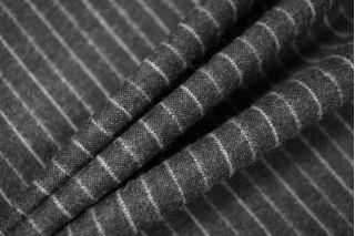 Твид шерстяной темно-серый в полоску PRT-Е5 12071904
