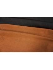 Костюмная шерсть двусторонняя черно-оранжевая PRT 12071914
