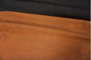 ОТРЕЗ 2,95 М Костюмная шерсть двусторонняя черно-оранжевая PRT-G4 12071914-1