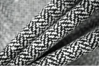 Твид черно-белый елочка с люрексом PRT-N5 16011901