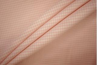 Хлопок костюмно-плательный гусиная лапка бело-розовая PRT-G7 07061925