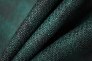 Костюмная шерсть в клетку изумрудная PRT1-O4 18011905