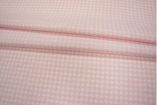 Костюмная шерсть гусиная лапка бело-розовая PRT-O4 18011915