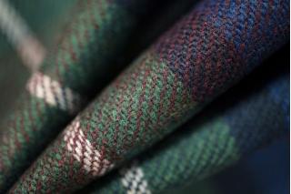 Костюмная шерсть клетка сине-зеленая PRT1-O4 18011916
